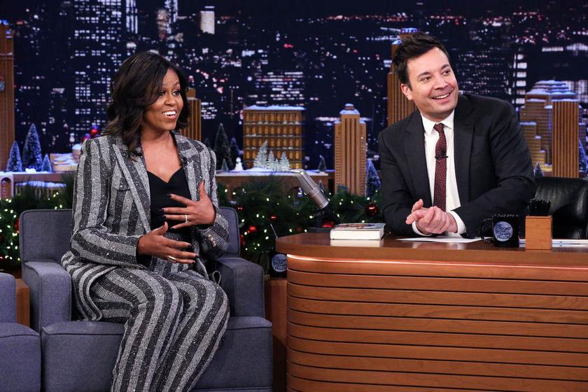 Michelle Obama Jimmy Fallon műsorában szólt be Melaniának.