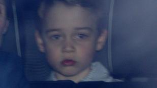 György herceg láthatóan nem volt elájulva attól, hogy a királynőhöz kellett mennie ebédelni