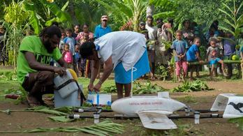 Először szállítottak drónnal vakcinát egy távoli szigetre