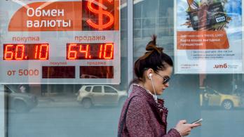 Megtiltják az orosz pénzváltóknak, hogy az utcán hirdessék az árfolyamokat