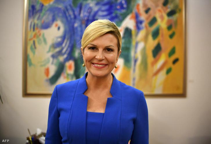 Kolinda Grabar Kitarovic horvát államfő Zágrábban 2018. szeptember 6-án