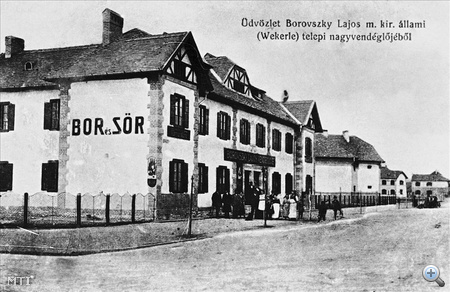 Képeslap a Wekerle-telepi nagyvendéglőről