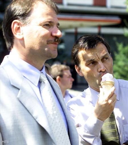 Márton Attila, a Fidesz országgyűlési képviselője és Orbán Viktor (Fotó: Illyés Tibor)