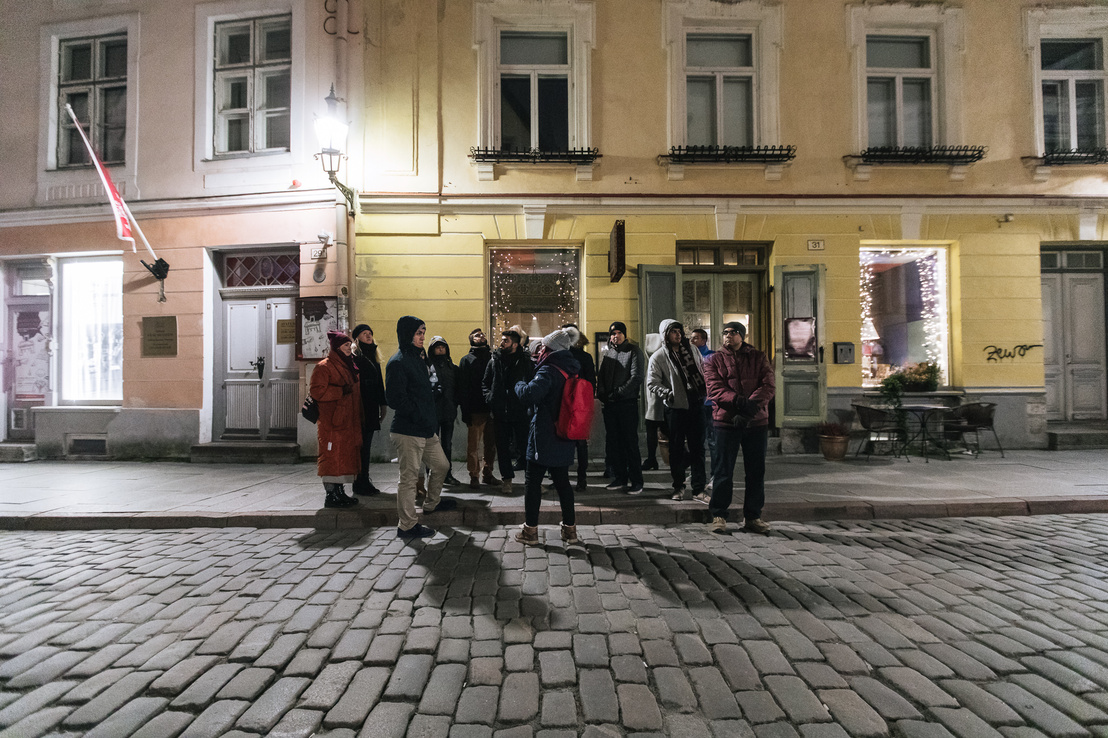 Városnéző túrán a Work in Estonia jelöltjei.