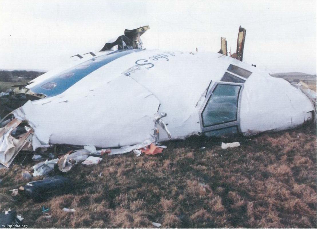 Pan Am Flight 103. Crashed Lockerbie, Scotland, 21 December 1988