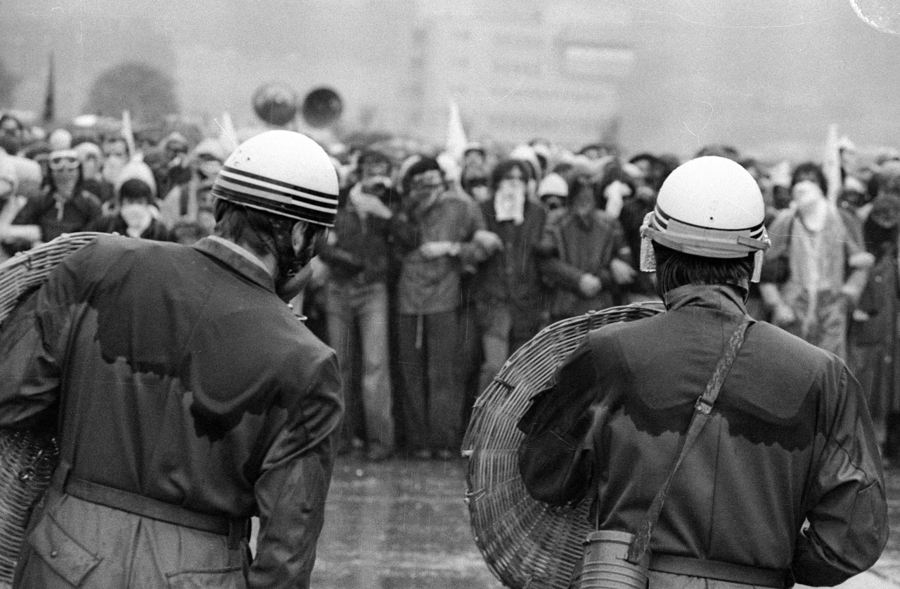 Tiltakozás az atomerőművek ellen. Olten/Gösgen, 1977.