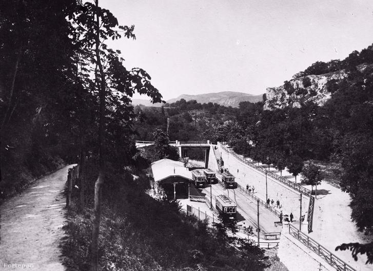 A zugligeti villamos-végállomás 1909-ben