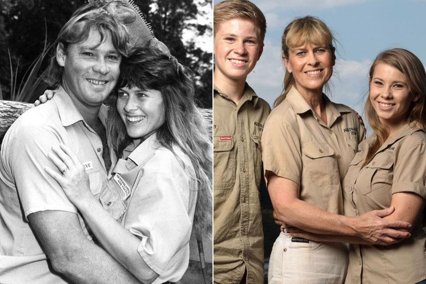 A jobb oldalon Terri a fiával és a lányával látható.