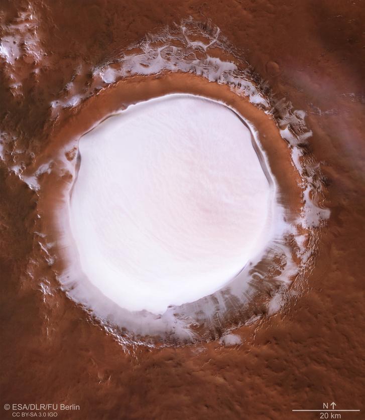 Felülnézeti képet is generáltak a Mars Express adataiból
