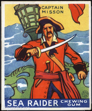 Captain Misson, described by Johnson as founder of fictional Lib