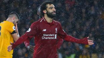 A Liverpool veretlen, Szalah vezeti a góllövőlistát
