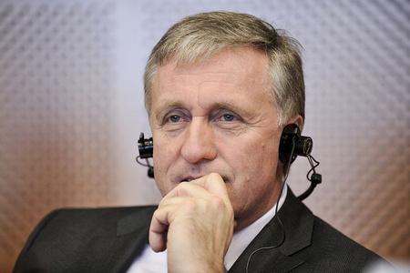 Mirek Topolánek, volt cseh miniszterelnök a 2010. február 3-i ECR-ülésen