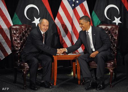 Musztafa Muhammed Abdel Dzsalíl és Barack Obama négyszemközti megbeszélést folytattak
