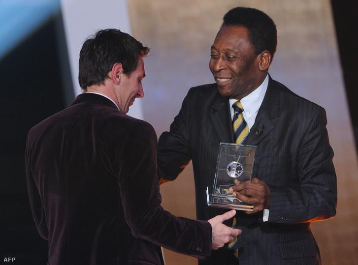Lionel Messi és Pelé 2012-ben