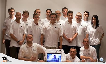 A Puli Space Technologies csapat egy része