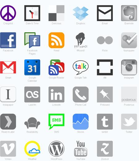 A már aktivált szolgáltatásokat színes ikonok jelzik