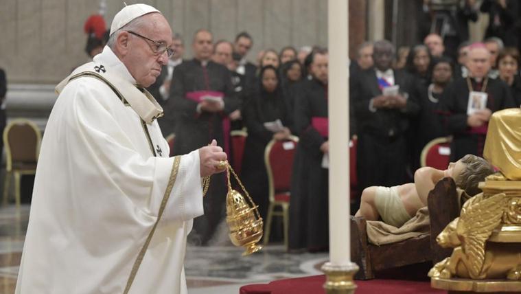 Karácsonyi szentmise a vatikáni Szent Péter bazilikában