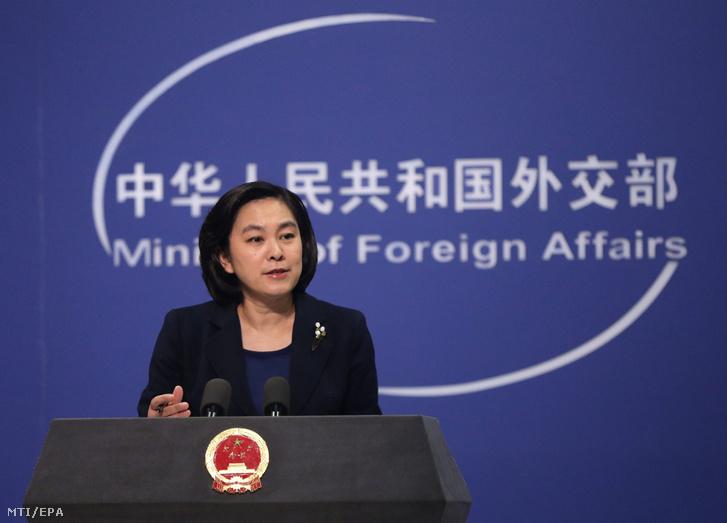 Hua Csun-jing, a kínai külügyminisztérium szóvívője