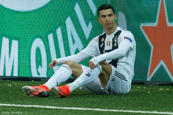 Cristiano Ronaldo a Juventus és BSC Young Boys meccsen, Bern-ben 2018 december 12-én