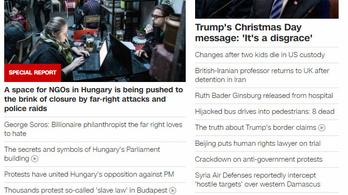 A magyar demokrácia helyzete a CNN vezető anyaga