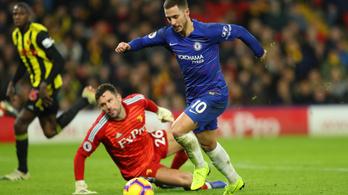 Hazard meglőtte 100. Chelsea-gólját