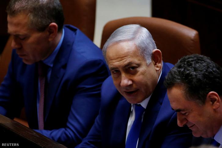 Benjámin Netanjahu a kneszetben 2018. december 26-án