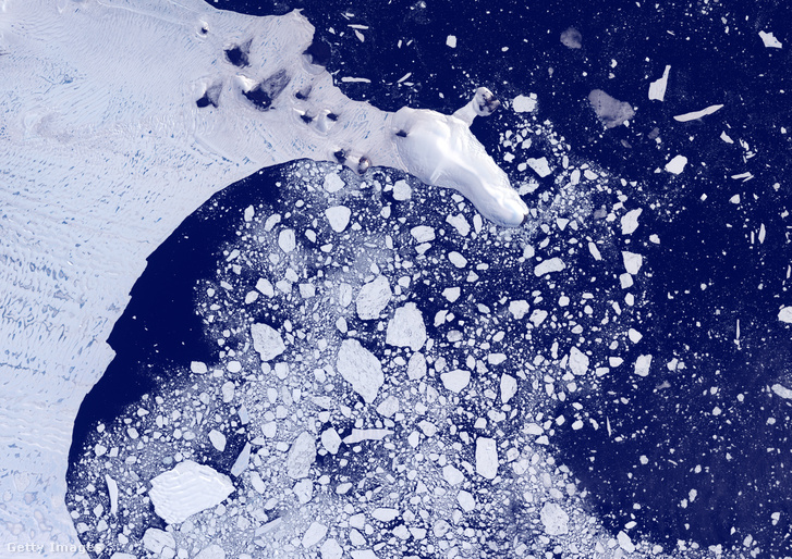A Weddel-tenger műholdfelvételen