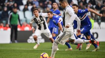 Ronaldo két gólja és videóbíró kellett a Juve-győzelemhez