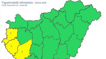 Három megyében is ónos eső eshet