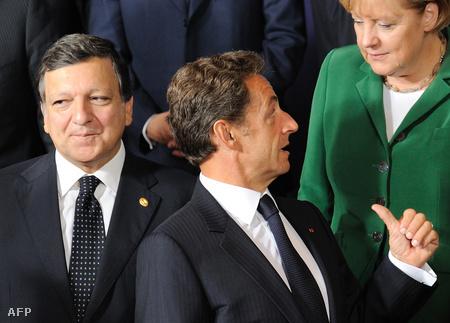 Barroso, Sarkozy és Merkel