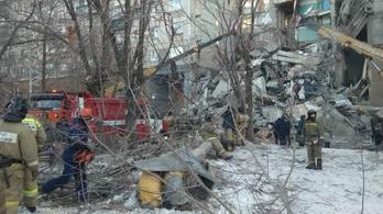 Leomlott egy lakótömbház része Oroszországban