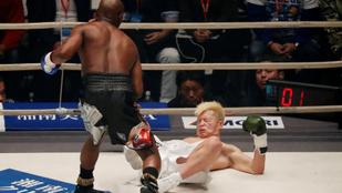 Mayweather kabaréműsorba illó TKO-val tért vissza