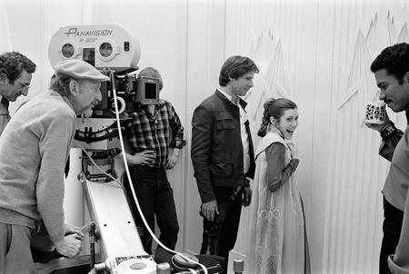 Jellegzetes Panavision kamera a Birodalom visszavág forgatásán