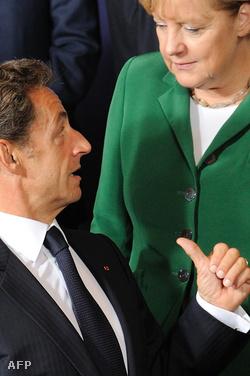 Nicolas Sarkozy és Angela Merkel