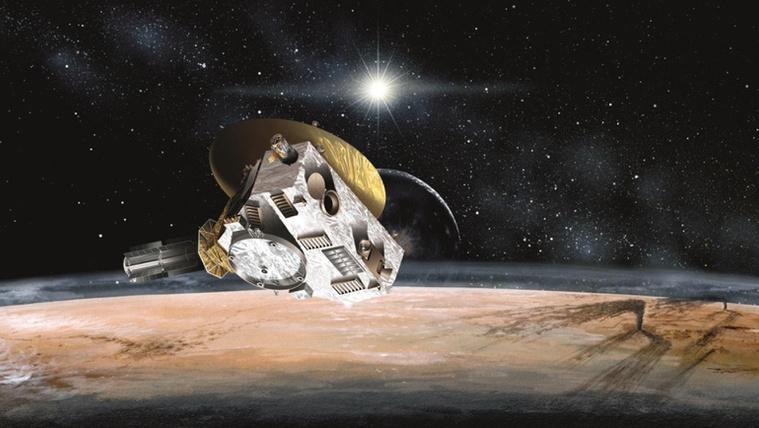 A New Horizons a Plutónál 2015-ben