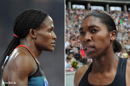 Maria  Mutola és Caster Semenya