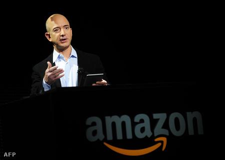 Jeff Bezos a Kindle Fire bemutatóján