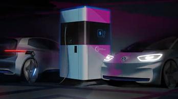 Hordozható villanyautó-töltőt fejleszt a VW