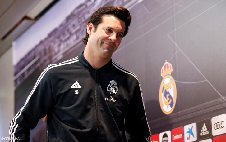 Santiago Solari a Real Madrid sajtótájékoztatóján