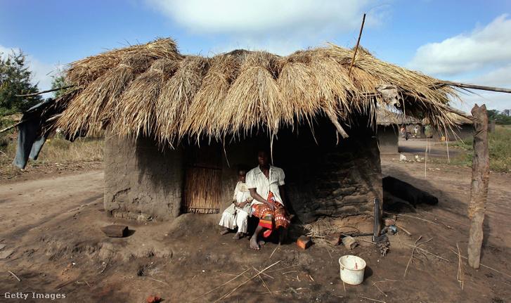 Tradícionális mozambiki kunyhó