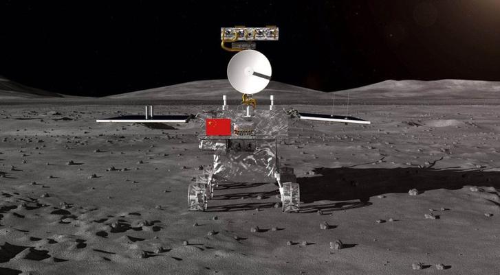 Fantáziarajz a Holdon álló szondáról.