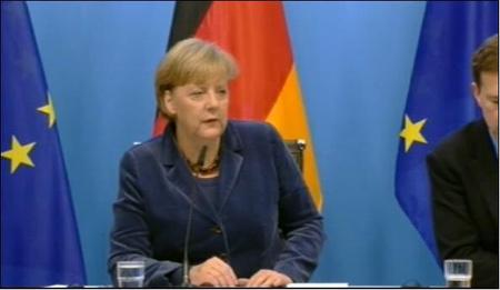 Angela Merkel beszél a csúcs után