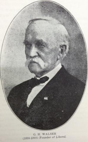 George H Walser, Liberal város alapítója