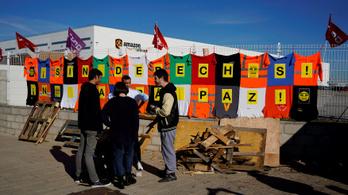Sztrájkolnak a dolgozók az Amazon spanyolországi logisztikai központjában