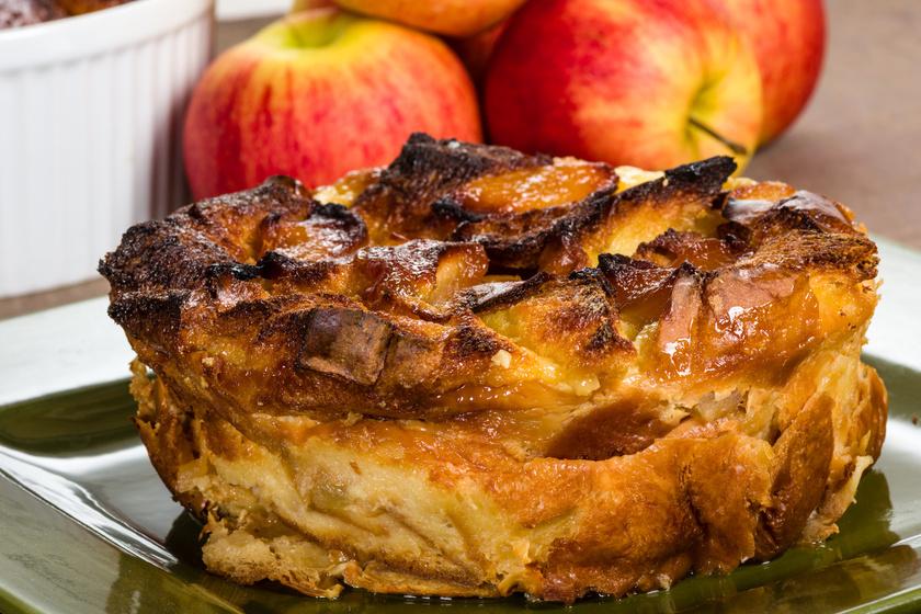 Fahéjas, almás kenyérfelfújt: ebbe rakd a száraz péksütit