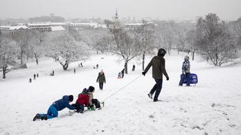 10 centi hó is hullhat a hétvégén