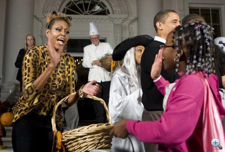 2009. Halloween - Michelle Obama ocelotnőként