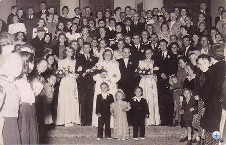 Éva és László, 1950. óta boldog házasok - esküvői fotó