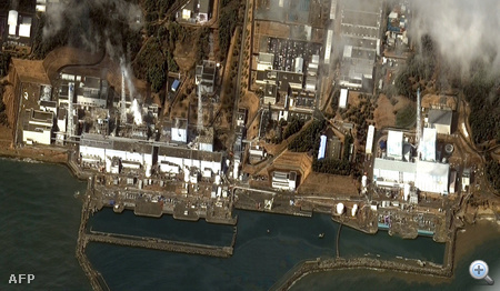 Műholdfelvétel a fukusimai atomerőműről