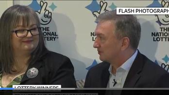 Frances és Patrick 41 milliárdot nyert a lottón